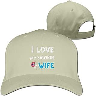 Baseball Caps Love My Smokin Hot Wife Golf Dad Hat Man Womans Vintage Snapbacks Cap Black