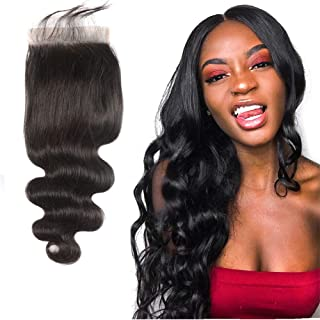 5X5 Closure Free Part Lace Front Brazilian Hair With Closure Body Wave 150% Density Wet And Wavy Remy Hair Extensions Short Curly Weave For Black Women Human Hair Deals Natural Black 10 Inch