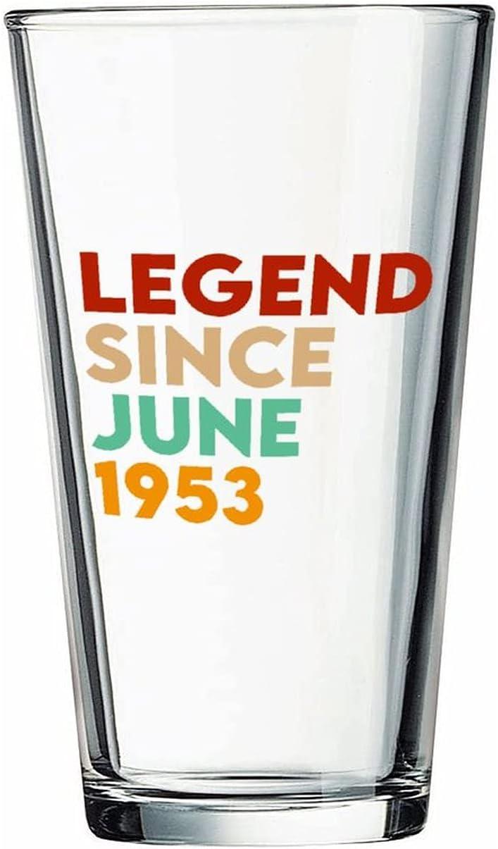 Legend Desde junio de 1953 Copas de cerveza personalizadas, vaso de cerveza de pinta de 16 onzas ideas para crismas,Día de Acción de Gracias, papá, mamá, marido, esposa, padre...