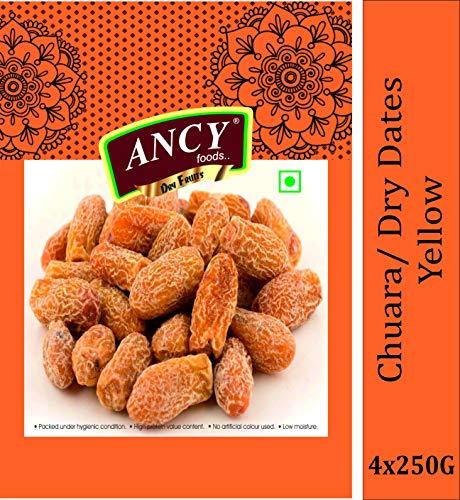 Ancy Dry Fruit Mall Yellow Dry Dates/Peela Sukha Khajoor (1000 Grams)