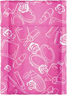 """Fuxury/ Fu Global 4x8"""" 50Pcs Poly Bubble Mailers #000, Self Seal Padded Envelopes Bulk with Bubble Lined Wrap- Pink Rose"""