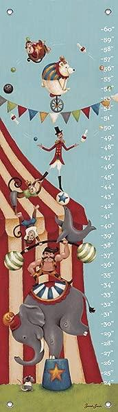 莎拉 · 洛的《 Oopsy Daisy Circus Super Stack 》成长图表 12 乘 42 英寸