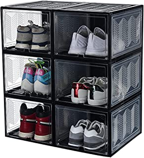 JINWEI Boite Rangement Chaussures, Rangement Sneakers, Étanche Étagères Couvercle 28 * 37 * 22CM, adapté aux Chaussures de...