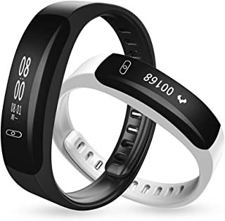 Bond K8 Blood Pressure Monitor Wrist Watch Pulse Meter Heart Rate Smart Wristband Fitness Tracker Smartband SMS Push Message Bracelet for iOS and Android (BLACK)