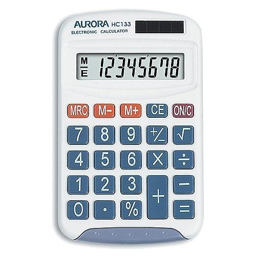 Aurora HC133 Handheld Calculator (Ideal for Primary School Use)-White