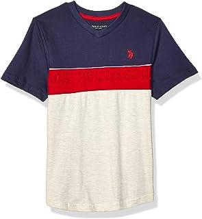 U.S. POLO ASSN. boys Short Sleeve V-Neck T-Shirt T-Shirt