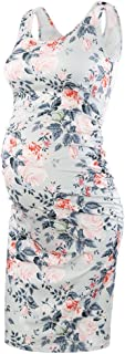 Women's Maternity Sleeveless Dresses Maternity Tank Dress Mama Baby Shower Pregnancy Dress