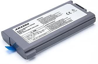 Amanda New Laptop Battery 9cell Replacement for Panasonic Toughbook Cf-30 Cf-31 Cf-53 CF-VZSU46 CF-VZSU46S CF-VZSU46U CF-VZSU46R CF-VZSU46AU CF-VZSU71U CF-VZSU72U 10.65V 8.55Ah