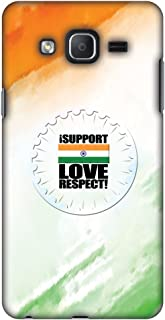 Samsung Galaxy On7 Pro Case, Premium Handcrafted Designer Hard Shell Snap On Case Shockproof Printed Back Cover for Samsung Galaxy On7 Pro - I Support Love India