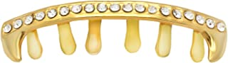 L&L Nation 14K Gold Plated New Cz Bar Top & Bottom Mouth Teeth Grillz