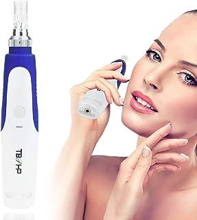 DermaPen DermaRoller Pen Stamp Microneedle System de cabello cicatriz acné cicatrices TBPHP con 2 piezas 12 micro agujas