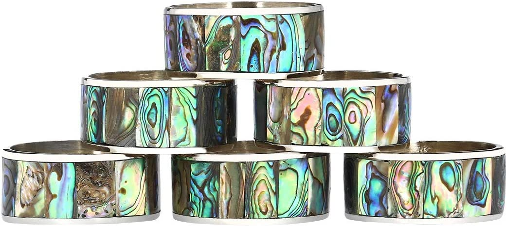 Canbella Napkin Rings Chicago Mall Shipping included Set of 6 Ring - Stainless Ste Round