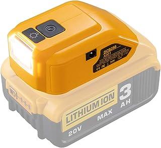 Sponsored Ad – Battery Adapter for Dewalt 14.4V/18V/20V Lithium Ion Battery,DC Port & LED Work Light &Dual USB Charger,Pow...