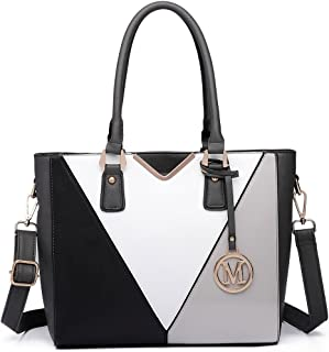 Miss Lulu Pu Ledertasche Damen Schultertasche Handtasche… (Graue Ausgabe)