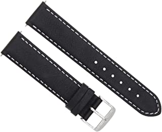 22MM SMOOTH LEATHER WATCH STRAP BAND FOR MAURICE LACROIX PONTOS CHRONO BLACK WS