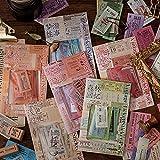 240 pegatinas vintage para scrapbooking, pegatinas decorativas con diseño de billete antiguo, para sobres, álbumes de recortes, calendario, cuaderno, diario, álbum de fotos, decoración DIY