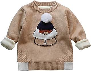 Jersey Navidad para Niños Bebé de Papá Noel Suéter de Punto