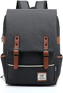 UGRACE Slim Business Laptop Backpack Elegant Casual Daypacks Outdoor Sports Rucksack School Shoulder Bag for Men Women, Tear Resistant Simple Stylish Travelling Backpack in Black