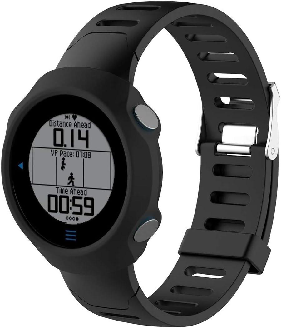 HUANGMENG Estuche de Reloj de Silicona de protección Inteligente Caja de Reloj for Garmin Forerunner 610 (Negro) (Color : Cyan)