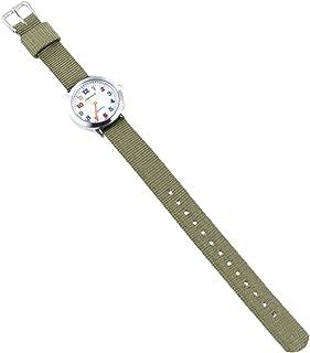 Hemobllo Kids Cartoon Watch Nylon Watch Strap Sports Watch Waterproof Digital Round Quartz Wristwatches Time Teacher Girls Boys Kids Green