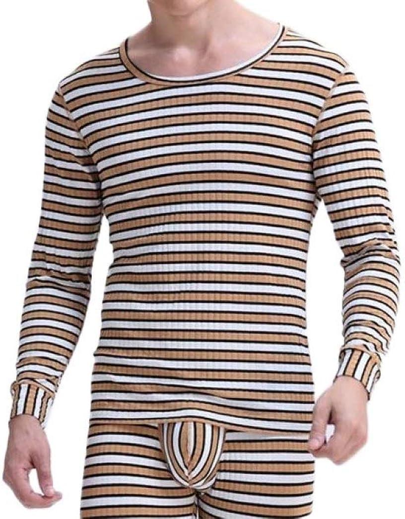 Men's Thermal Underwear Long John Set Winter Warm Base Layer Top and Bottom