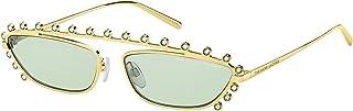 Marc Jacobs Women's 202996 Sunglasses, Color: Goldgreen, Size: 60