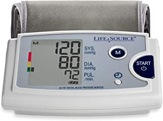 LifeSource Upper Arm Blood Pressure Monitor with Pre-Formed Cuff (UA-787EJ)
