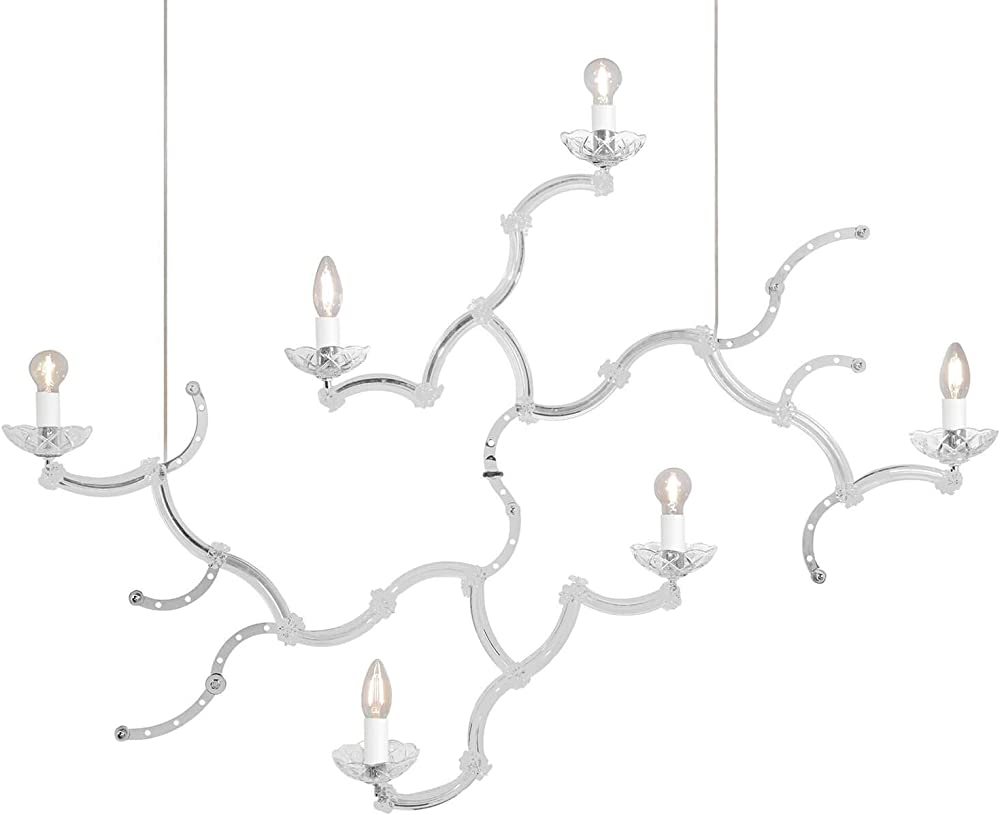 Karman ghebo, lampada a sospensione con 6 sorgenti luminose,in metallo SE1461B INT