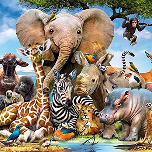 DEDC Rompecabezas 1000 Piezas para Adultos Niños, Art Painting Puzzle Decoración Rompecabezas Educativos Juegos de Bricolaje Brain Challenge Puzzle Sets, 70x50cm (Animal)
