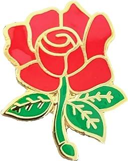 Spilla Rosa Rossa Inglese Contea Lancashire Smaltata