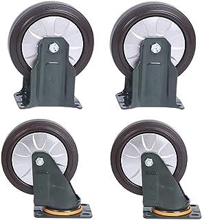 4 Stks Medium Rubber Hoge Elasticiteit Universeel Wiel, Trolley Flatbed Truck Industry Castor Wielen, Vervang Accessoires ...