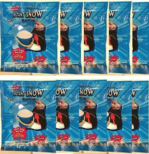 - Instant Snow (Tm) Powder, Will Make About 40 Cups of Fluffy Instantly Snow. by Instant Snow