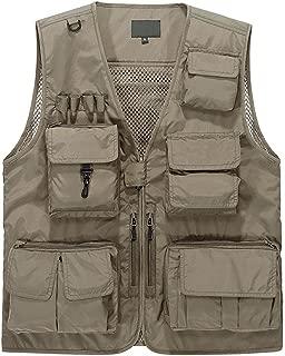 Outdoor Multi-Pocketed Fishing Vest Sleeveless Mesh Quick-Dry Waistcoat Jacket