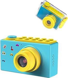 ShinePick Impermeable Cámara Fotos Niños Zoom Digital de 4X / 8MP / 1080P HD / 2 TFT LCD de la Pantalla Camara Fotos Infantil Regalos Navidad (Azul)