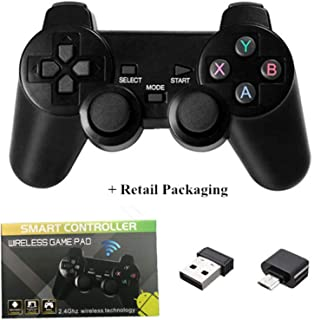 XYXZ Gamepad Controller Joysticks Gamepad 2.4G Adaptador Inalámbrico Micro Usb Otg Para Android Tv Box Para Pc Ps3 Gamepad...