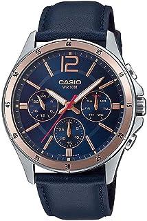 Casio Blue Leather Multi function Men Watch MTP-1374L-2AVDF