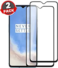 Case Plus Full Glue D+ Tempered Glass for OnePlus 7T (Black) Edge to Edge Full Screen Coverage with Easy Installation kit - 2 PACK (ONEPLUS 7T OG TEMPERED GLASS 6.55 INCHES)