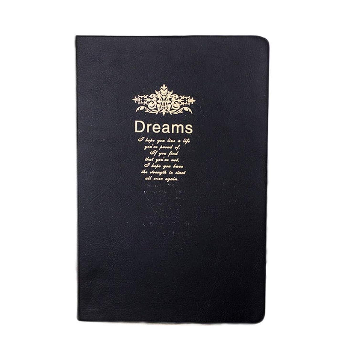 アダルトレイ不名誉メモ帳 厚めの日記の黒い表紙デザイン208余分な厚いパッド入りメモ帳レトロページの中のノートブック ノート