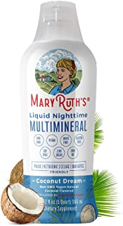 Liquid Sleep Multimineral by MaryRuth's (Coconut) Vegan Vitamins, Minerals,..