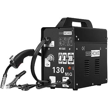VIVOHOME Portable Flux Core Wire No Gas MIG 130 Welder Machine 110V Black