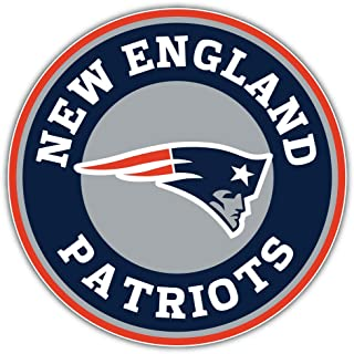 qualityprint New England Patriots Logo NFL Sport Decor Bumper Vinyl Sticker 12'' X 12''