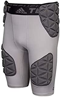 Men's Football TF Techfit Smash 5 Padded Girdle Shorts Light Gray BS2666