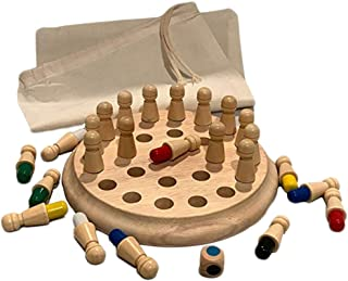 Wooden Memory Match Chess Stick Game-Kid Grown Ups Intelligence IQ Brain Teaser Game Thinking Practical Ability Educationa...