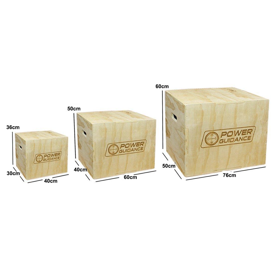 POWER GUIDANCE Caja pliométrica de madera 3 en 1 - Ideal para entrenamiento cruzado - 40/35/30CM, Plyo Caja de madera, Plyo Box: Amazon.es: Deportes y aire libre
