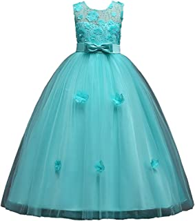 JIA&DI Infant Girls Floral Princess Dress with Bowknot Wedding Bridesmaid Pageant Princess Dress