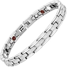 Womens Strong 4 Element Titanium Magnetic Therapy Bracelet for Arthritis Pain Relief Size Adjusting Tool and Gift Box Included By Willis Judd
