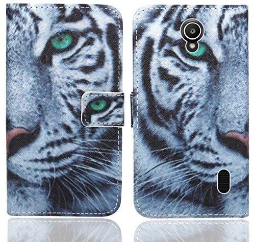 Huawei Y635 Handy Tasche, FoneExpert® Wallet Hülle Flip Cover Hüllen Etui Ledertasche Lederhülle Premium Schutzhülle für Huawei Y635 (Pattern 6)