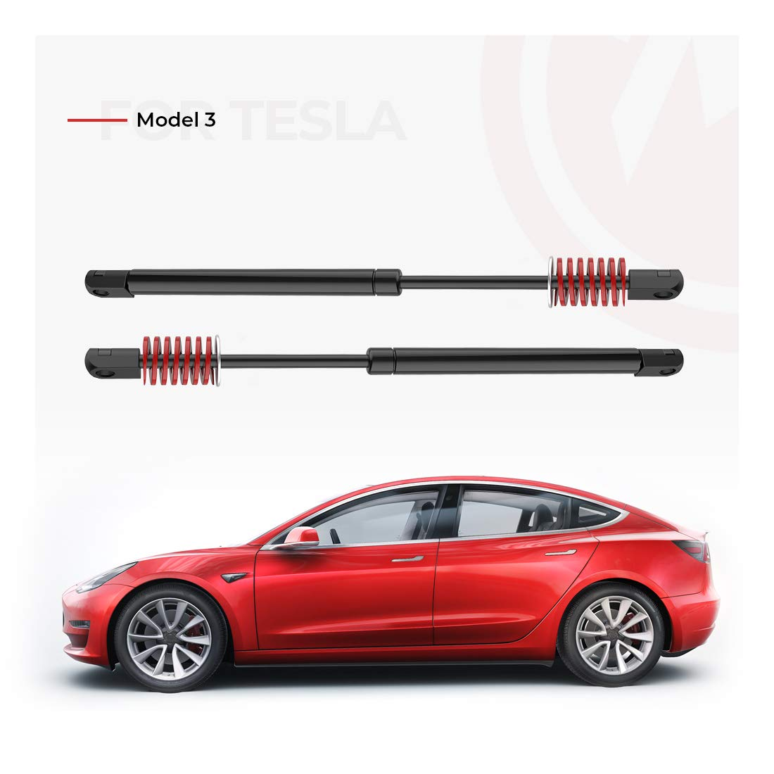 Upgraded Automatic Trunk Lift Support for Tesla Model 3 Rear Trunk Struts with Spring and Stainless Steel Washer Set of 2