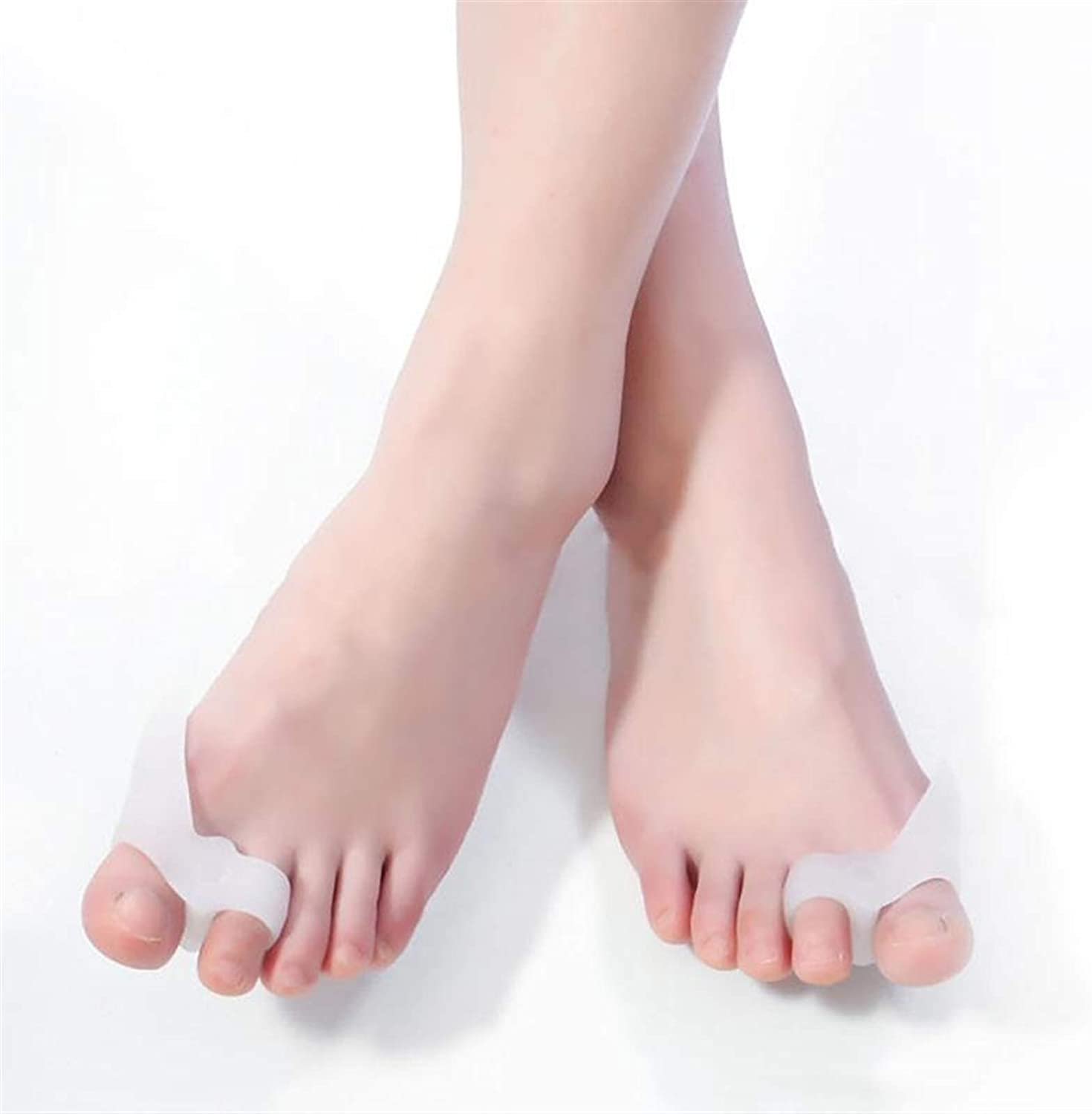 ZXJJY 1 Pair Silicone Gel Foot Super special price Hole Recommended Two Separator Toe Th Fingers