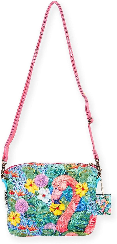 Bohemian Flamingo Small Crossbody Bag